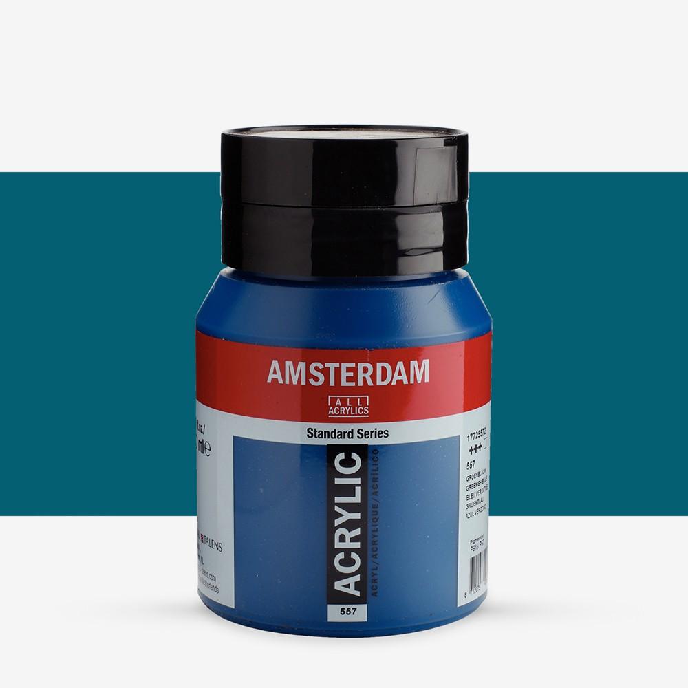 Talens : Amsterdam Standard : Acrylic Paint : 500ml : Greenish Blue