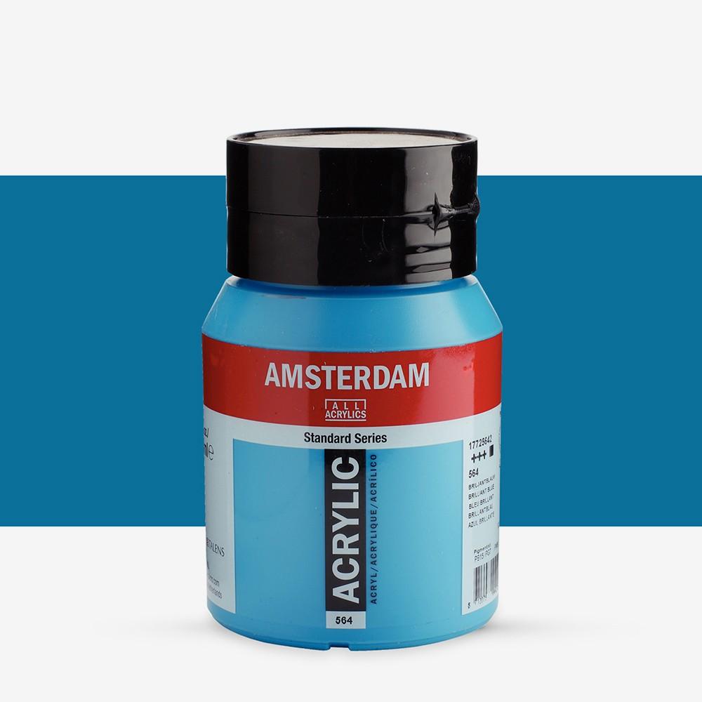 Royal Talens : Amsterdam Standard : Acrylic Paint : 500ml : Brilliant Blue