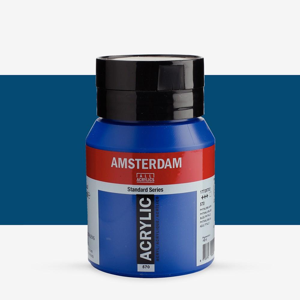 Talens : Amsterdam Standard : Acrylic Paint : 500ml : Phthalo Blue