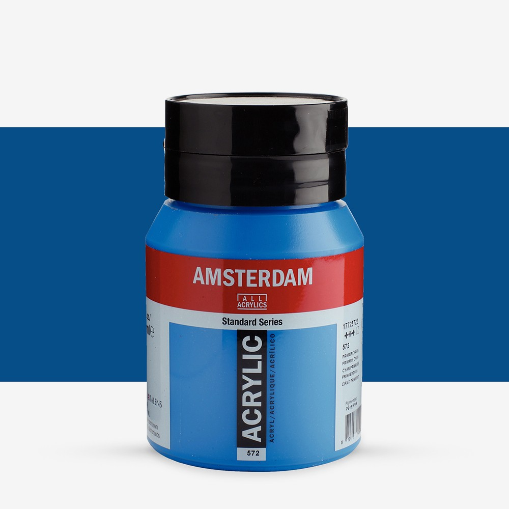 Royal Talens : Amsterdam Standard : Acrylic Paint : 500ml : Primary Cyan