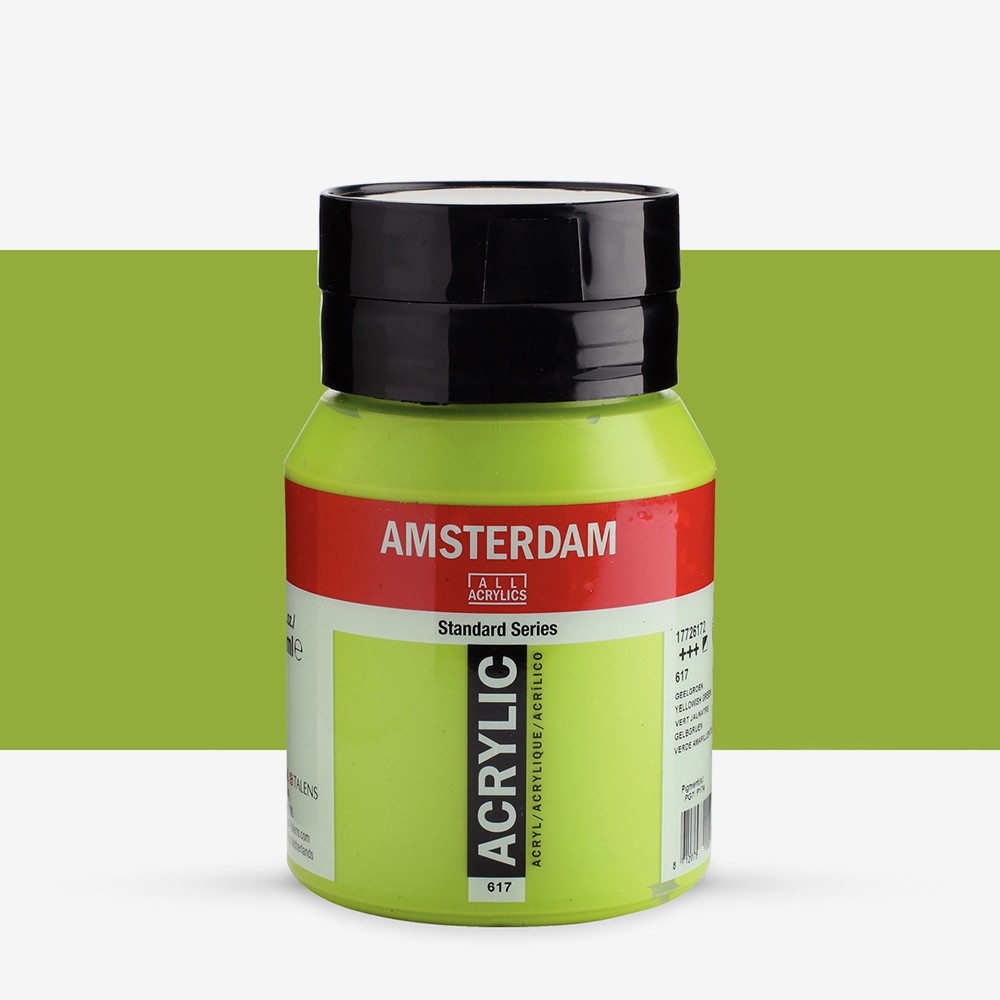 Talens : Amsterdam Standard : Acrylic Paint : 500ml : Yellowish Green