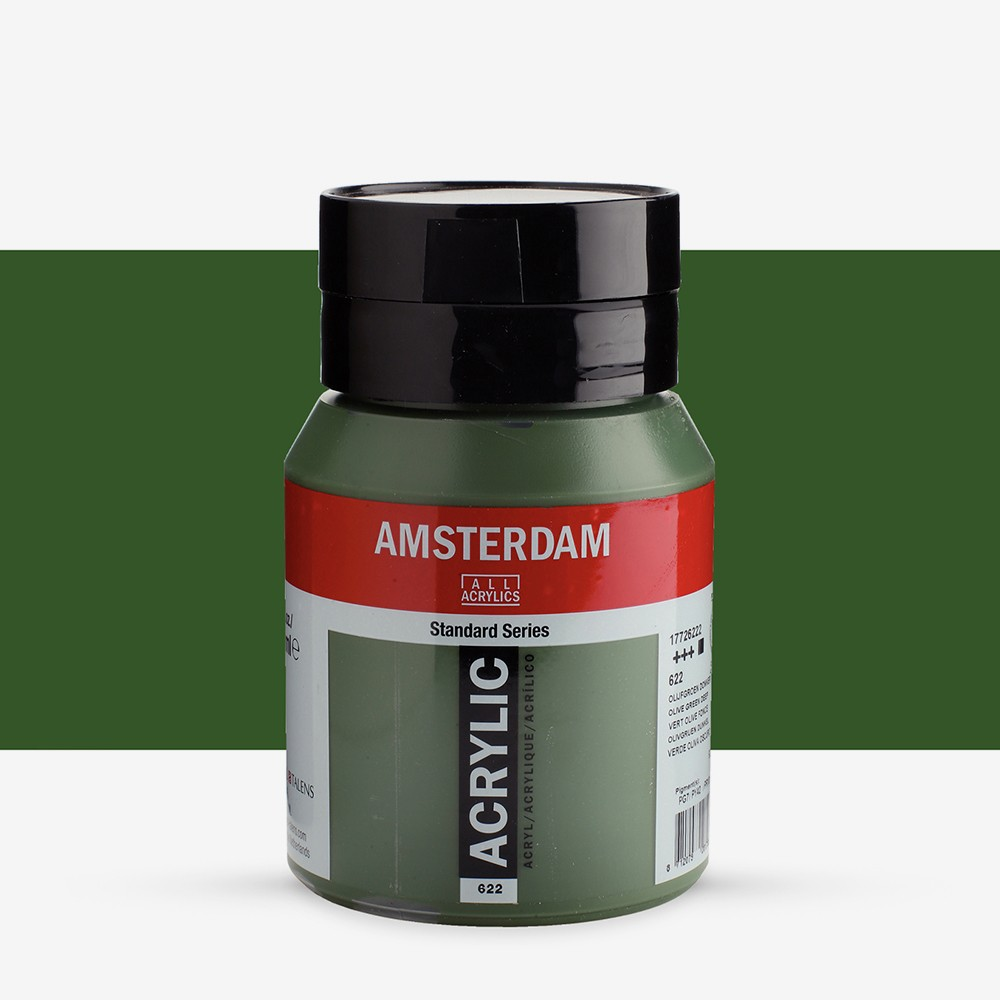 Royal Talens : Amsterdam Standard : Acrylic Paint : 500ml : Olive Green Deep