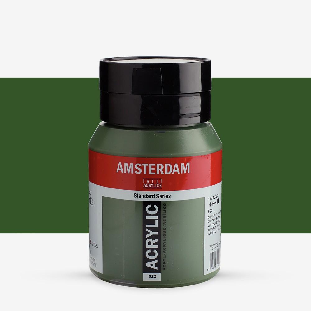 Talens : Amsterdam Standard : Acrylic Paint : 500ml : Olive Green Deep