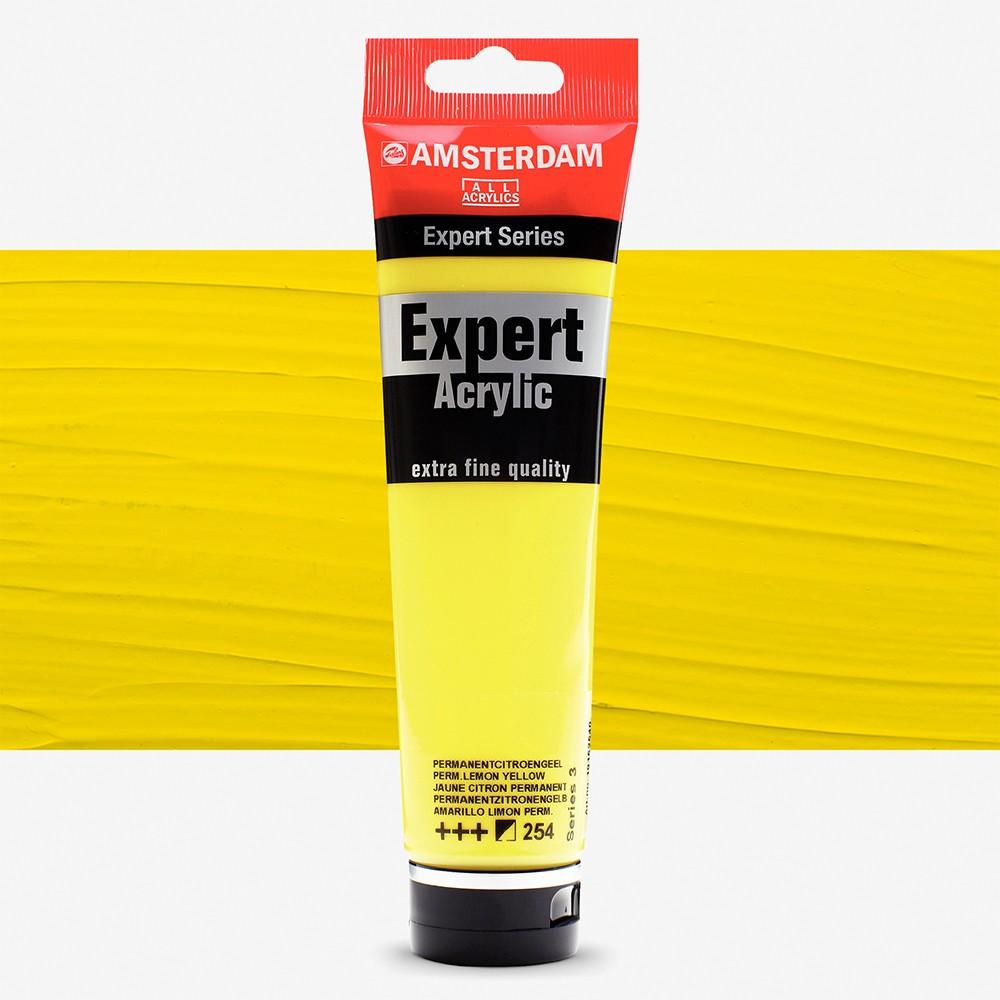 Talens : Amsterdam Expert Acrylic 150ml series 3 Permanent Lemon Yellow