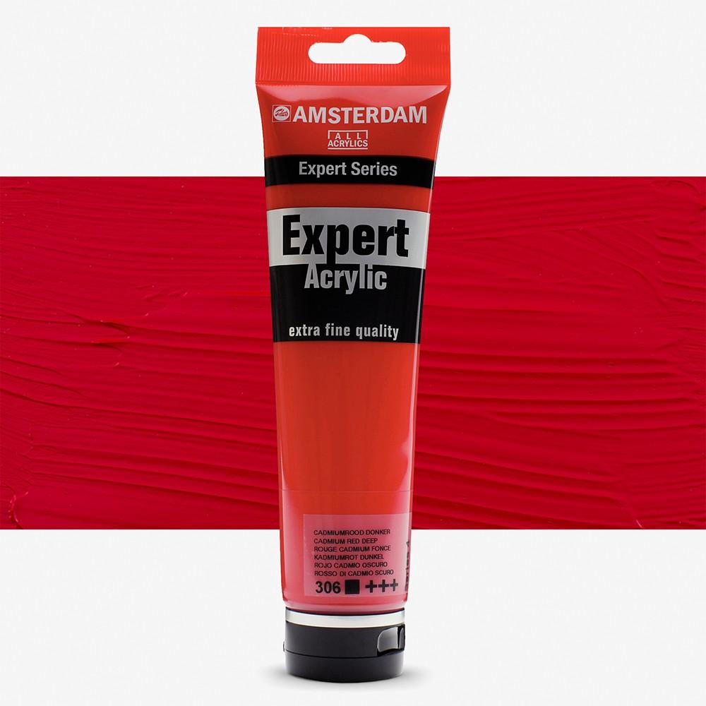 Talens : Amsterdam Expert : Acrylic Paint : 150ml : S4 : Cadmium Red deep