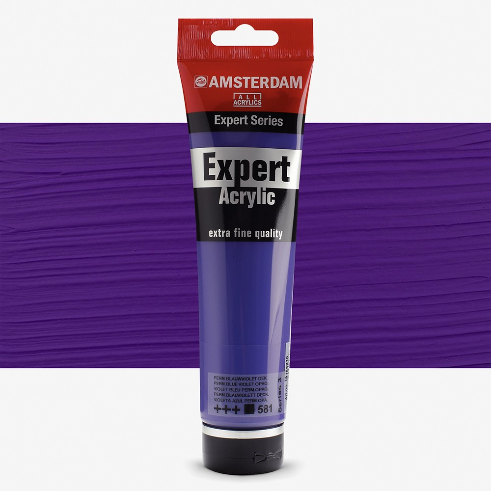 Talens : Amsterdam Expert : Acrylic Paint : 150ml : S3 : Permanent Blue Violet Opaque
