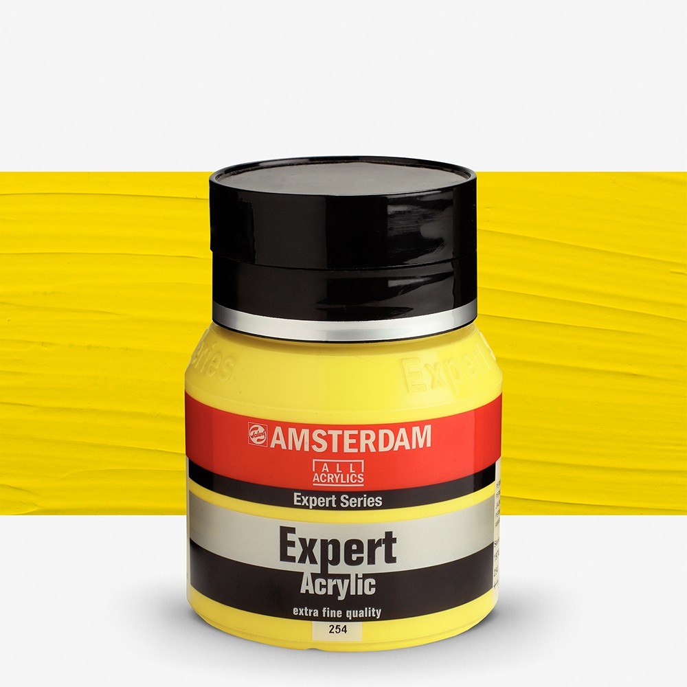 Talens : Amsterdam Expert : Acrylic Paint : 400ml : S3 : Permanent Lemon Yellow