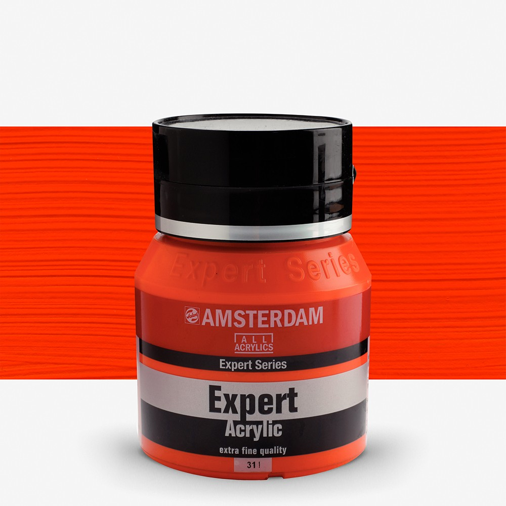 Royal Talens : Amsterdam Expert : Acrylic Paint : 400ml : S3 : Vermillion