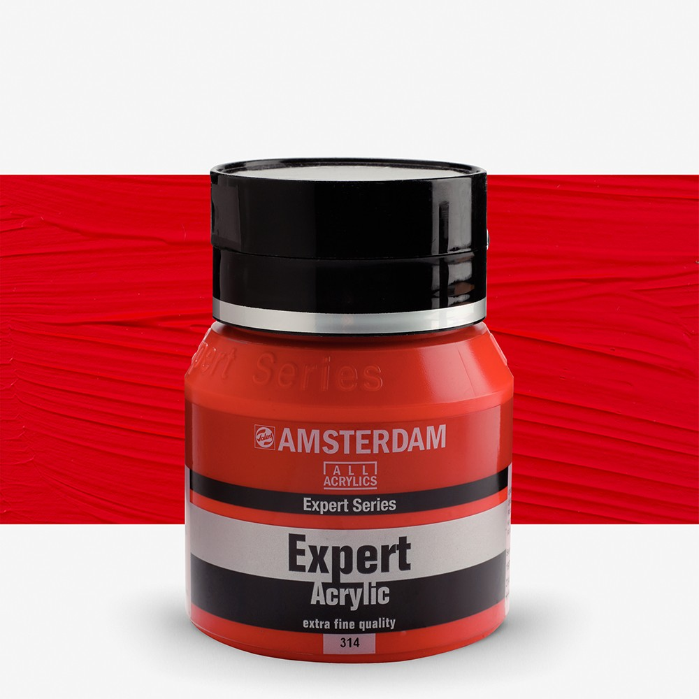 Talens : Amsterdam Expert : Acrylic Paint : 400ml : S4 : Cadmium Red Medium