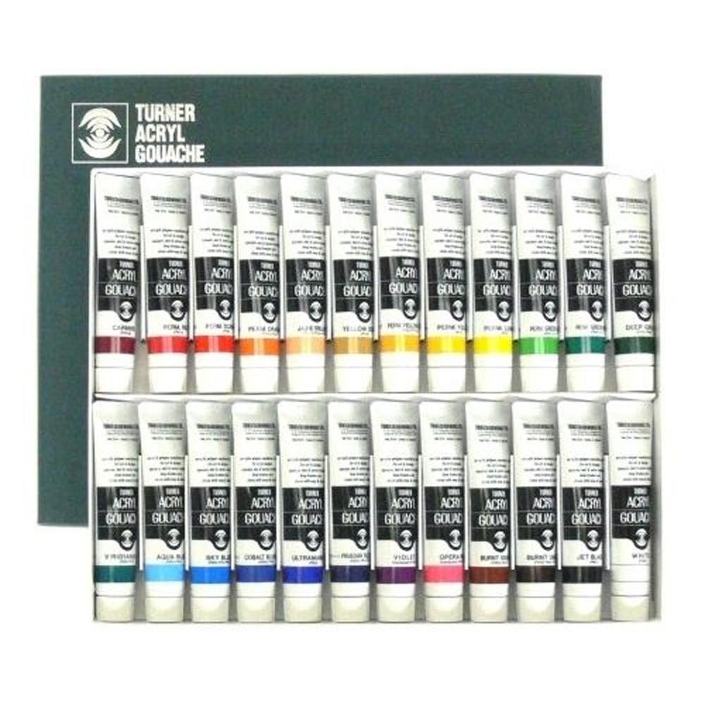 Turner : Acrylic Gouache Paint : 20ml : 24 Colour Set