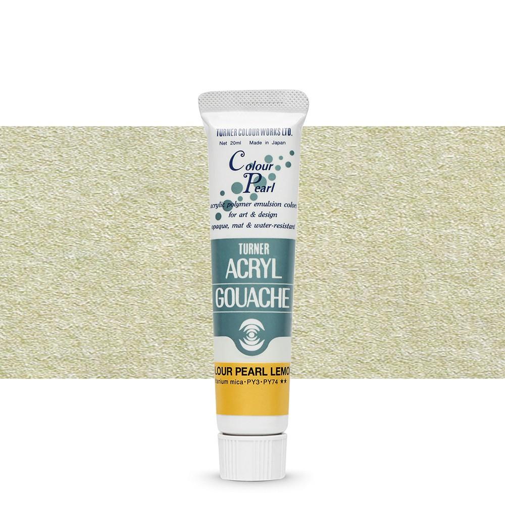 Turner : Acrylic Gouache Paint : 20ml : Pearl Lemon 404