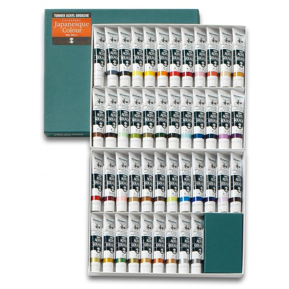 Turner : Acrylic Gouache Paint : 20ml : Japanesque 45 Colors Set