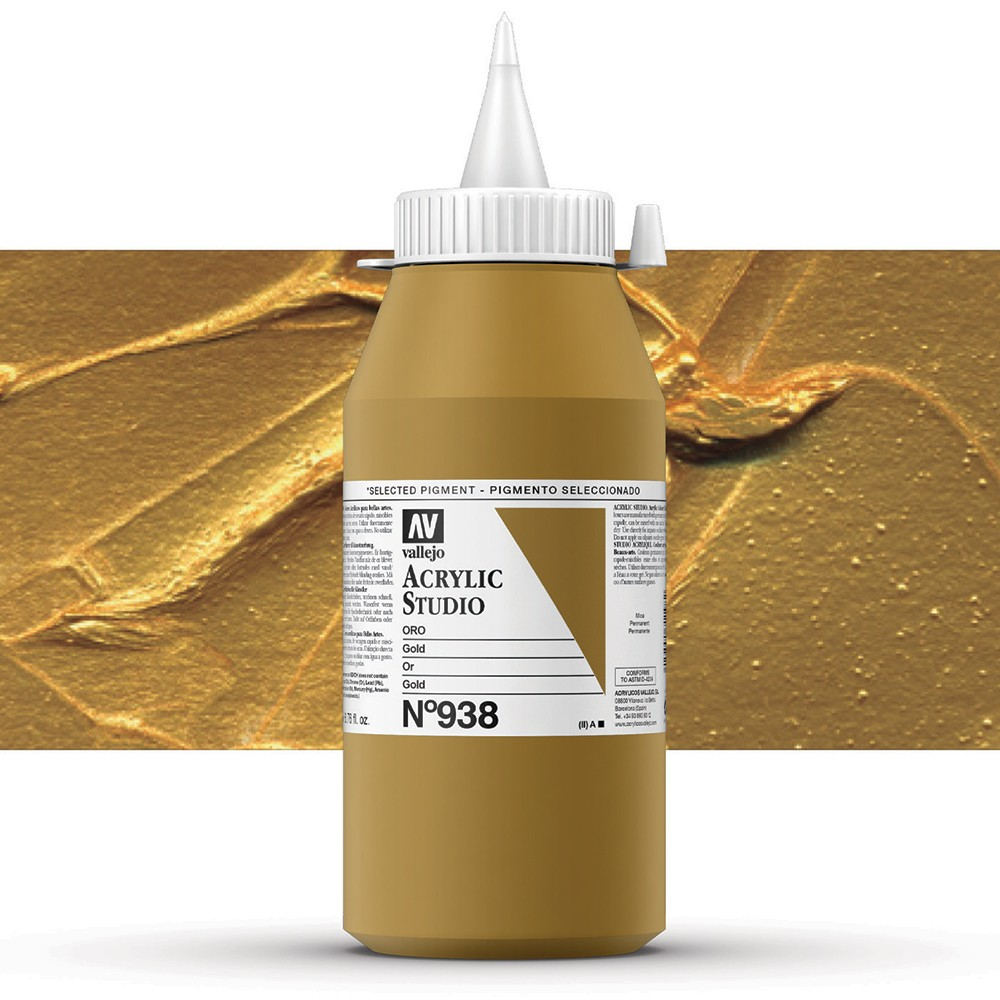 Vallejo : Studio Acrylic Paint : 1000ml : Gold