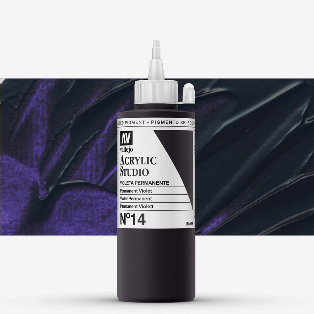 Vallejo : Studio Acrylic Paint : 200ml : Permanent Violet (Dioxazine)