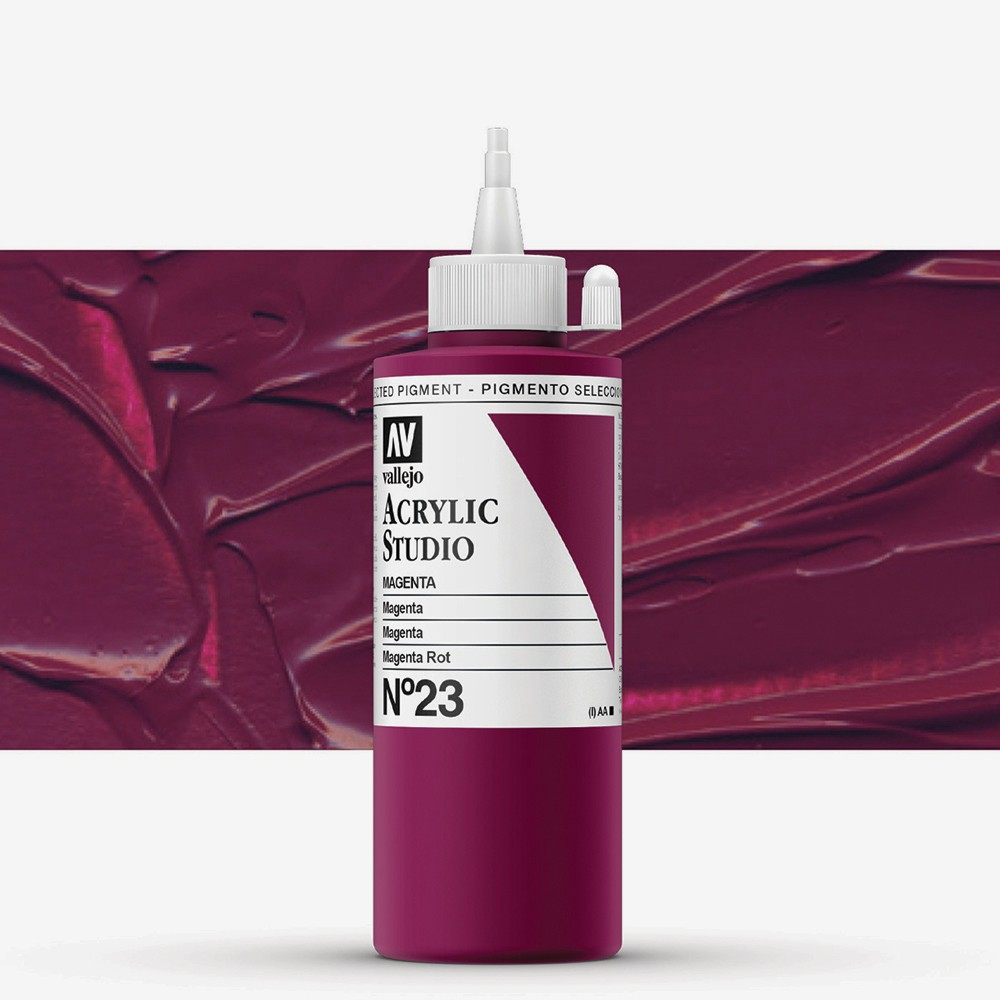Vallejo : Studio Acrylic Paint : 200ml : Magenta