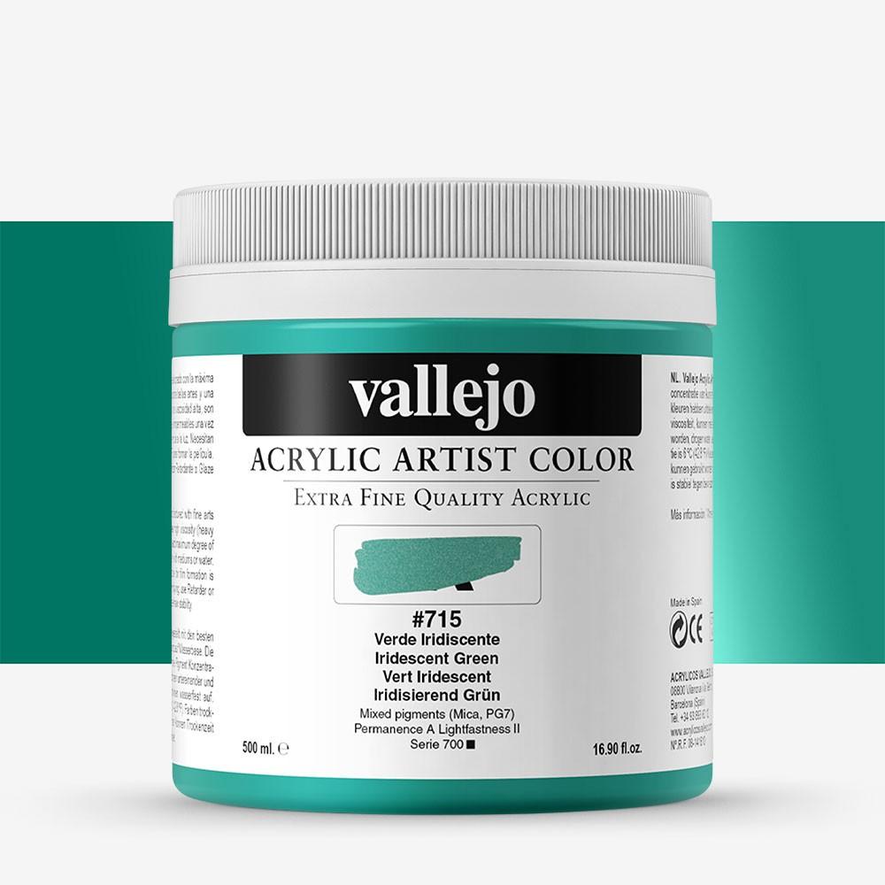 Vallejo : Artist Acrylic Paint : 500ml Pot : Iridescent Green
