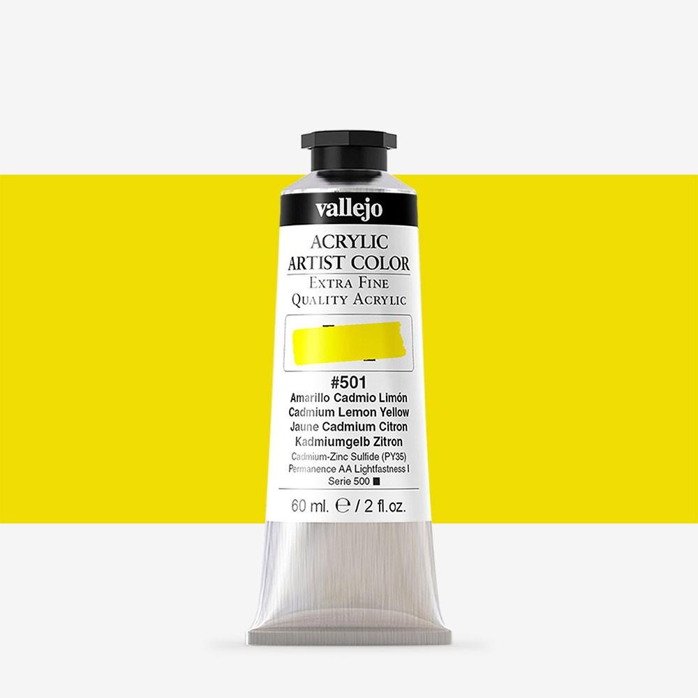 Vallejo : Artist Acrylic Paint : 60ml : Cadmium Lemon Yellow