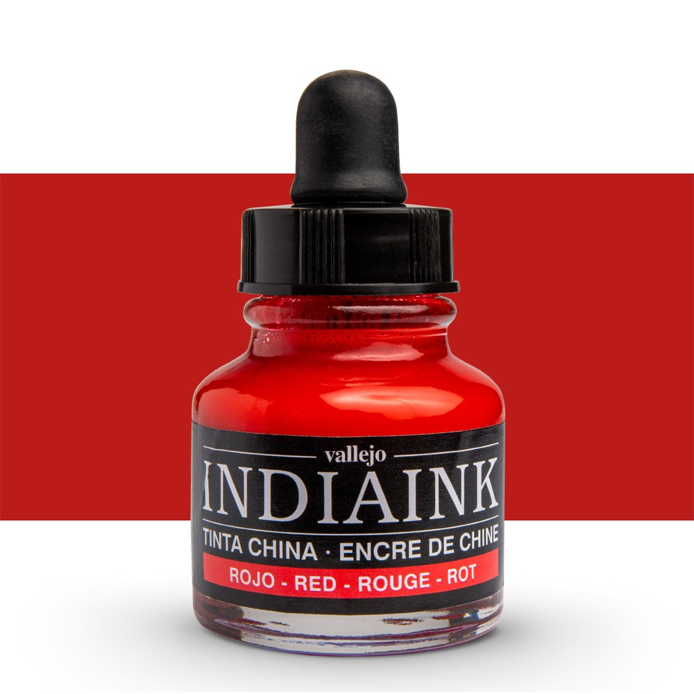 Vallejo : Indian Ink : 30ml : Red