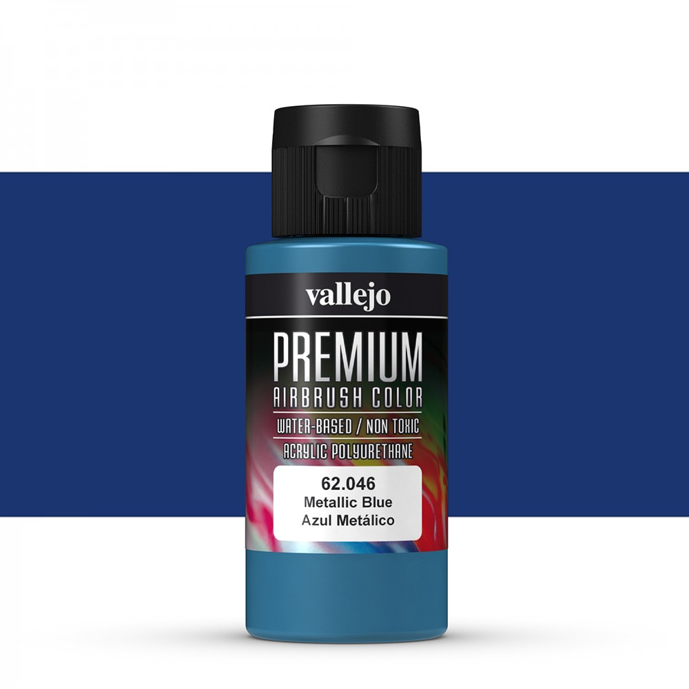 Vallejo : Premium Airbrush Paint : 60ml : Metallic Blue