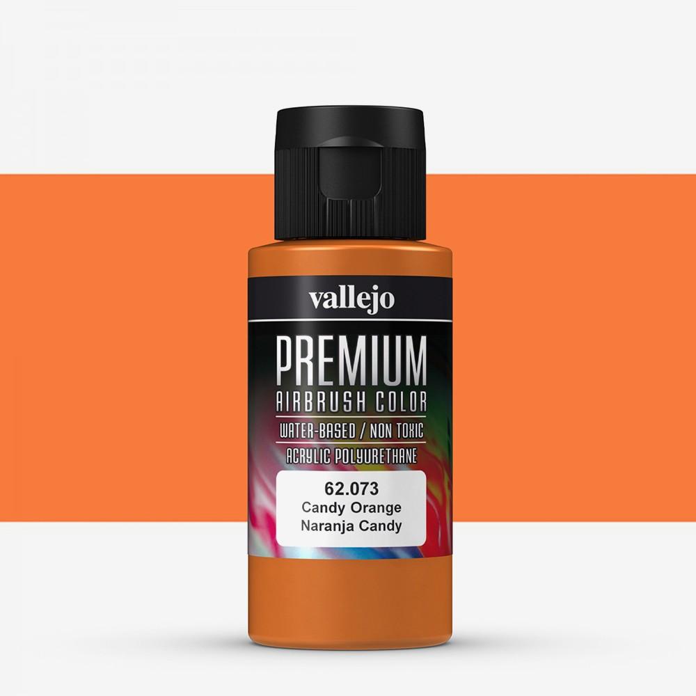 Vallejo : Premium Airbrush Paint : 60ml : Candy Orange Transparent