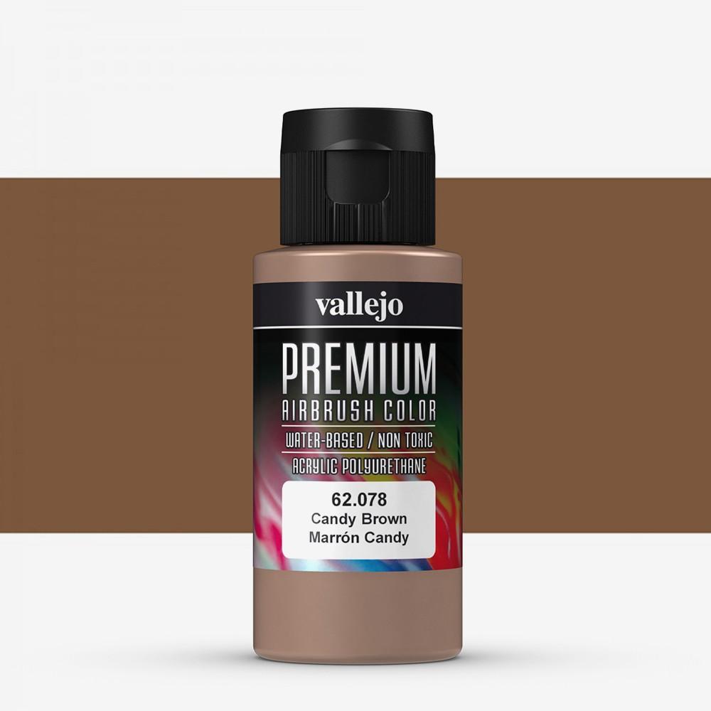 Vallejo : Premium Airbrush Paint : 60ml : Candy Brown Transparent