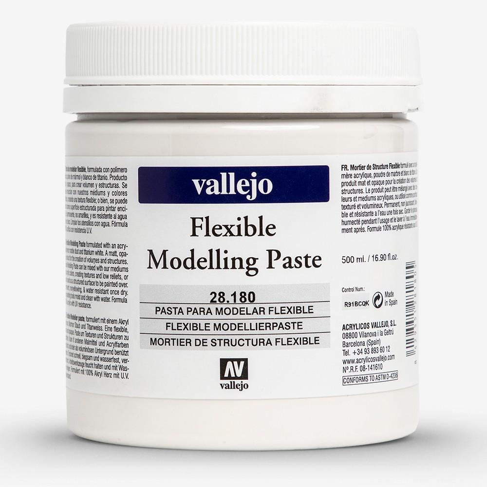 Vallejo : Acrylic White Stone Modeling Paste Medium : 500ml