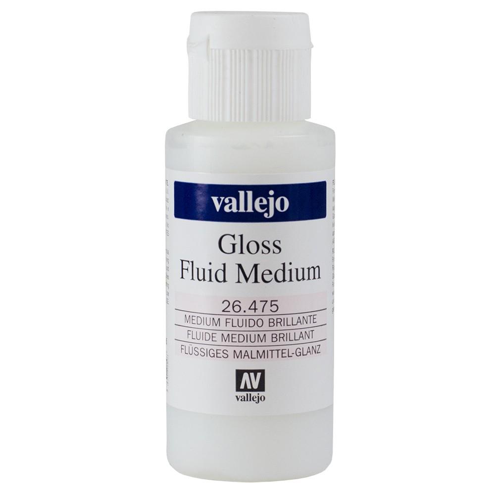 Vallejo : Acrylic Fluid Gloss Medium : 60ml