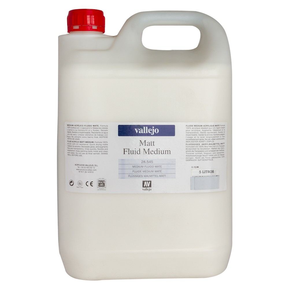 Vallejo : Acrylic Fluid Matt Medium : 5000ml : By Road Parcel Only