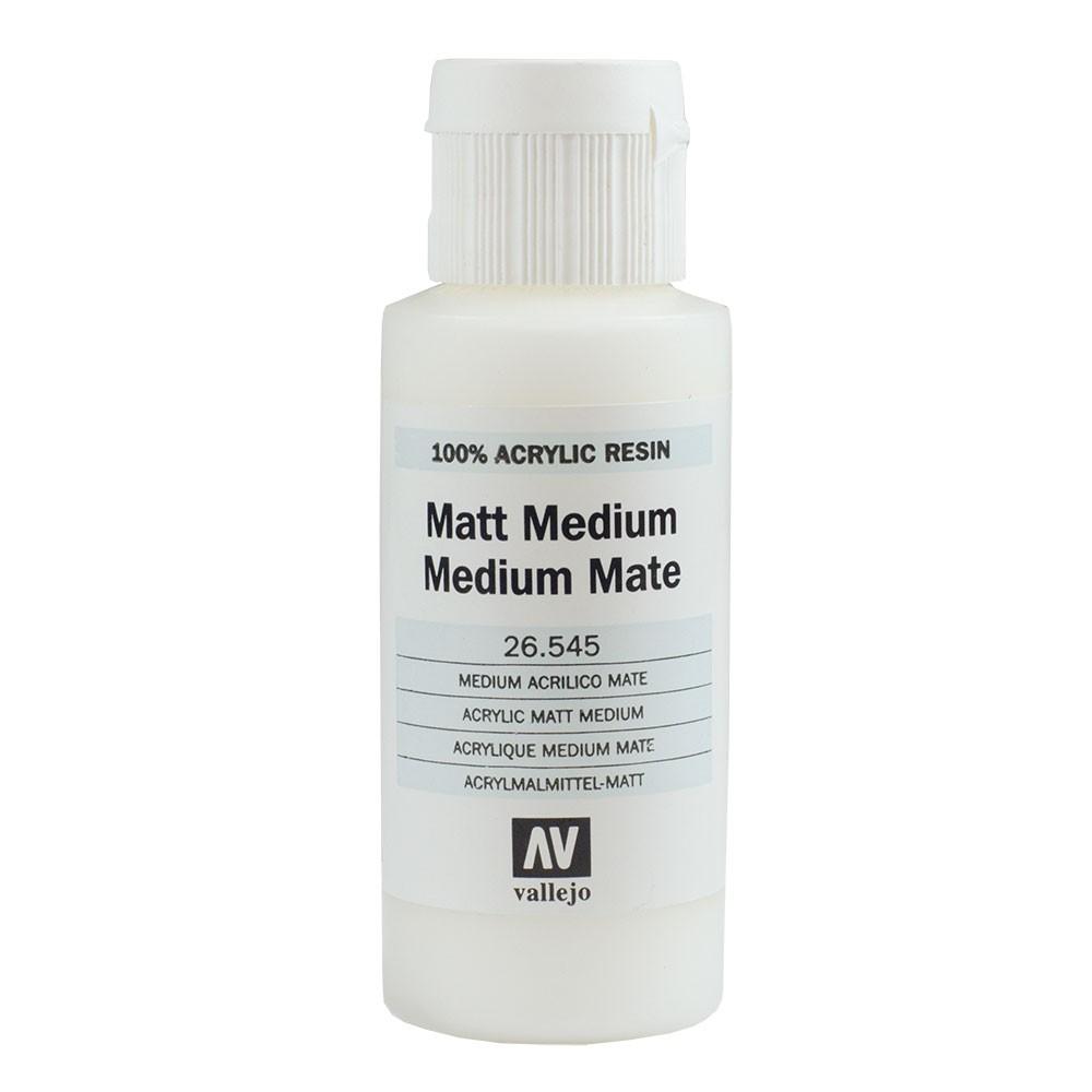 Vallejo : Acrylic Fluid Matt Medium : 60ml
