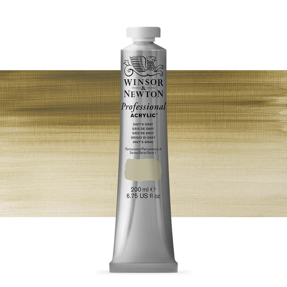 Winsor & Newton : Professional Acrylic Paint : 200ml : Davy's Grey