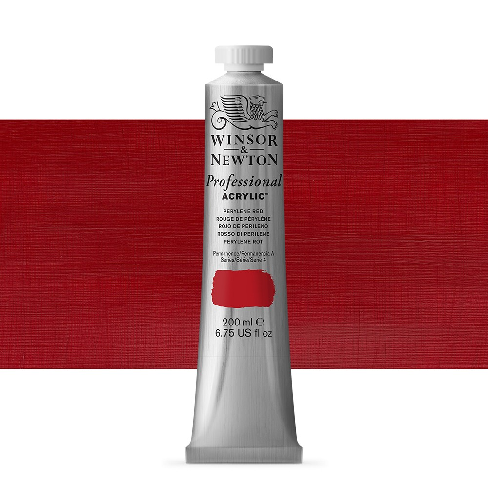 Winsor & Newton : Professional Acrylic Paint : 200ml : Perylene Red