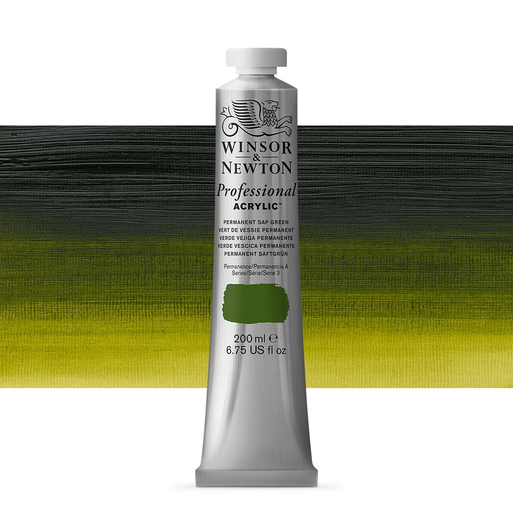 Winsor & Newton : Professional Acrylic Paint : 200ml : Perm Sap Green
