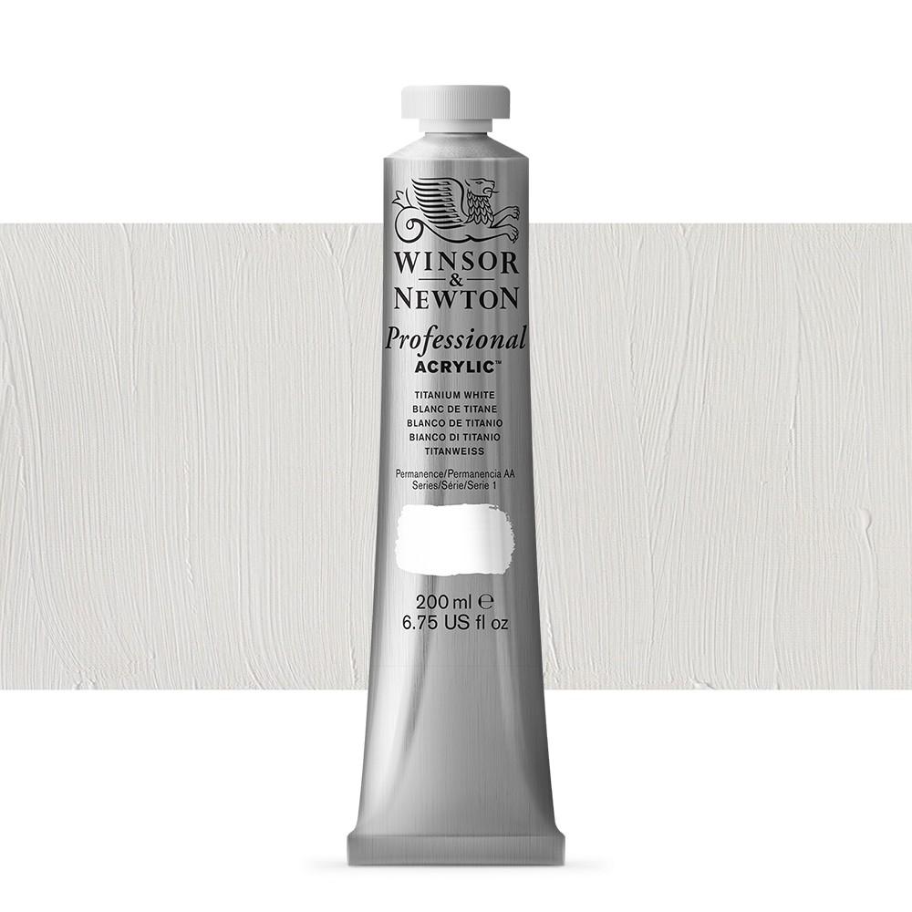 Winsor & Newton : Professional Acrylic Paint : 200ml : Titanium White