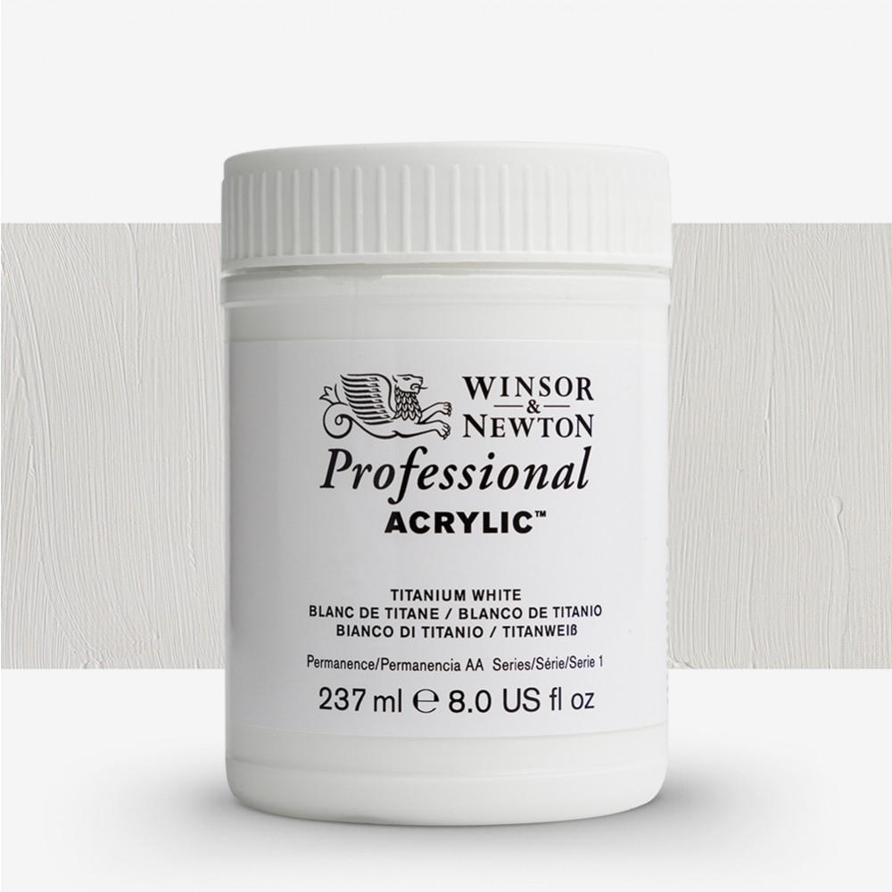 Winsor & Newton : Professional Acrylic Paint : 237ml : Titanium White