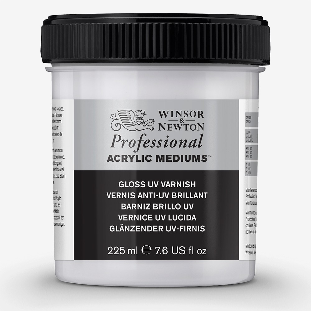 Winsor & Newton : Professional Acrylic : Gloss UV Varnish : 225ml