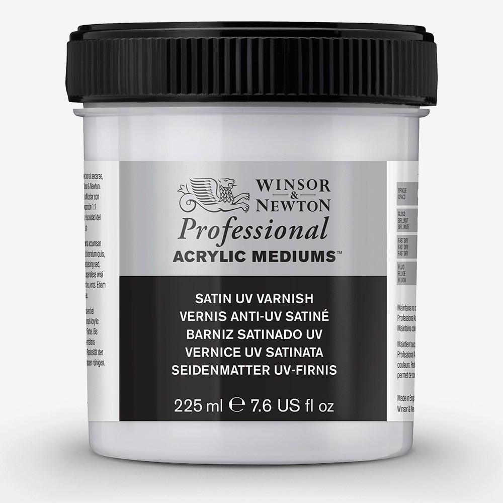 Winsor & Newton : Professional Acrylic : Satin UV Varnish : 225ml