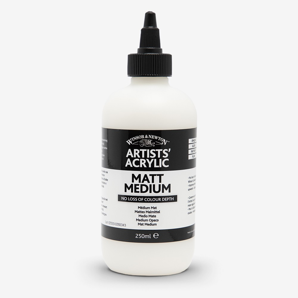 Winsor & Newton : Professional Acrylic : Matt Medium : 250ml