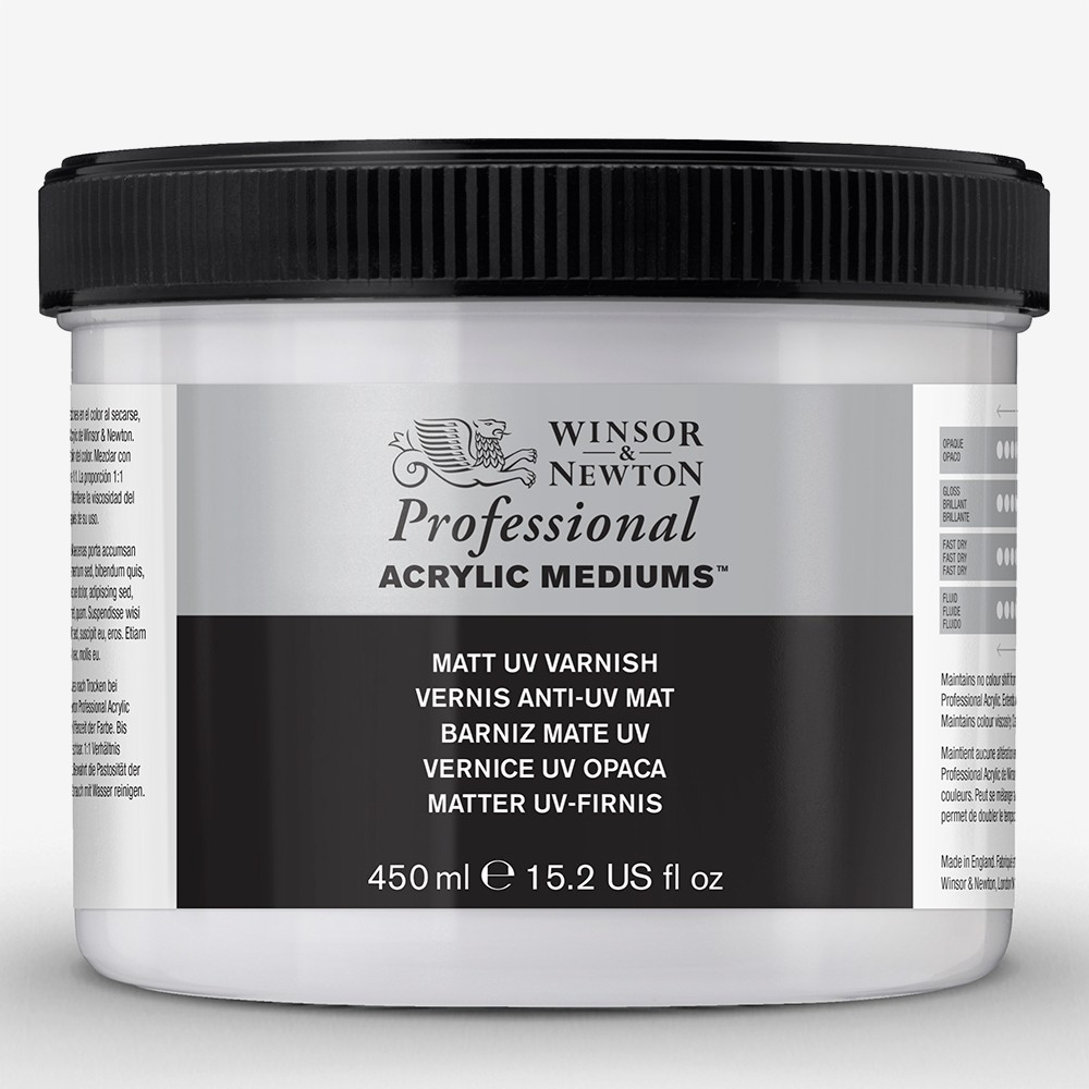 Winsor & Newton : Professional Acrylic : Matt UV Varnish : 450ml