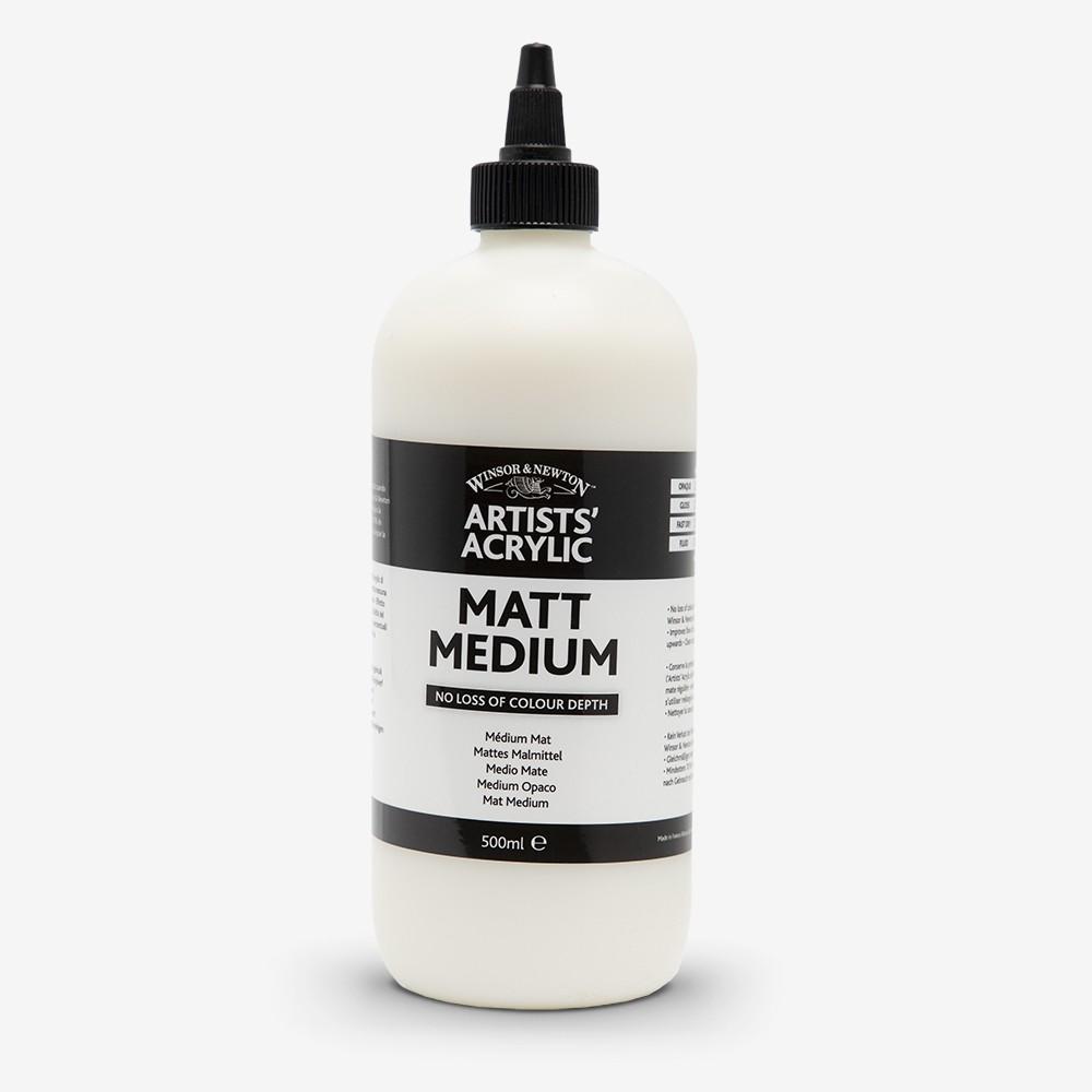 Winsor & Newton : Professional Acrylic : Matt Medium : 500ml
