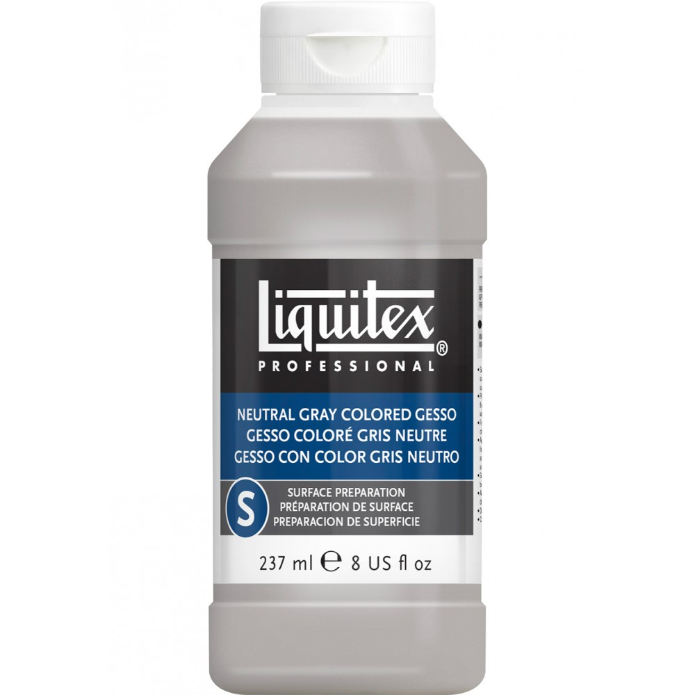 Liquitex : Professional : Coloured Gesso Primer Neutral Grey : 237ml