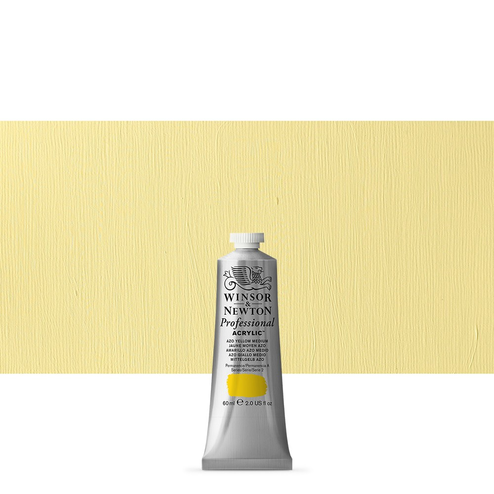Winsor & Newton : Professional Acrylic Paint : 60ml : Azo Yellow Medium