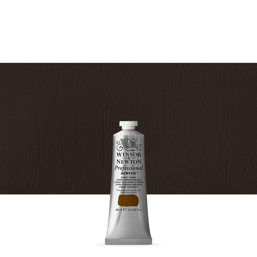 Winsor & Newton : Professional Acrylic Paint : 60ml : Burnt Umber