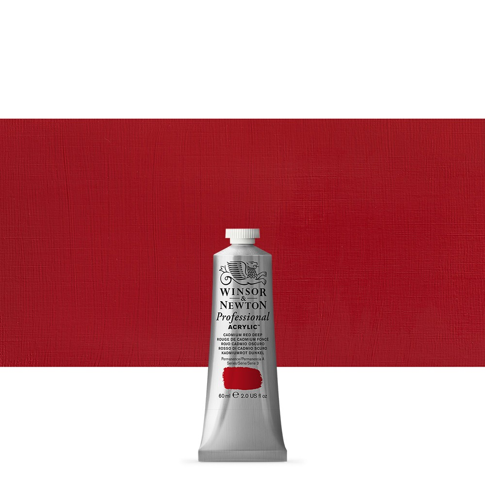 Winsor & Newton : Professional Acrylic Paint : 60ml : Cadmium Red Dep