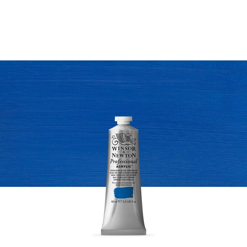 Winsor & Newton : Professional Acrylic Paint : 60ml : Cerulean Blue Chromium