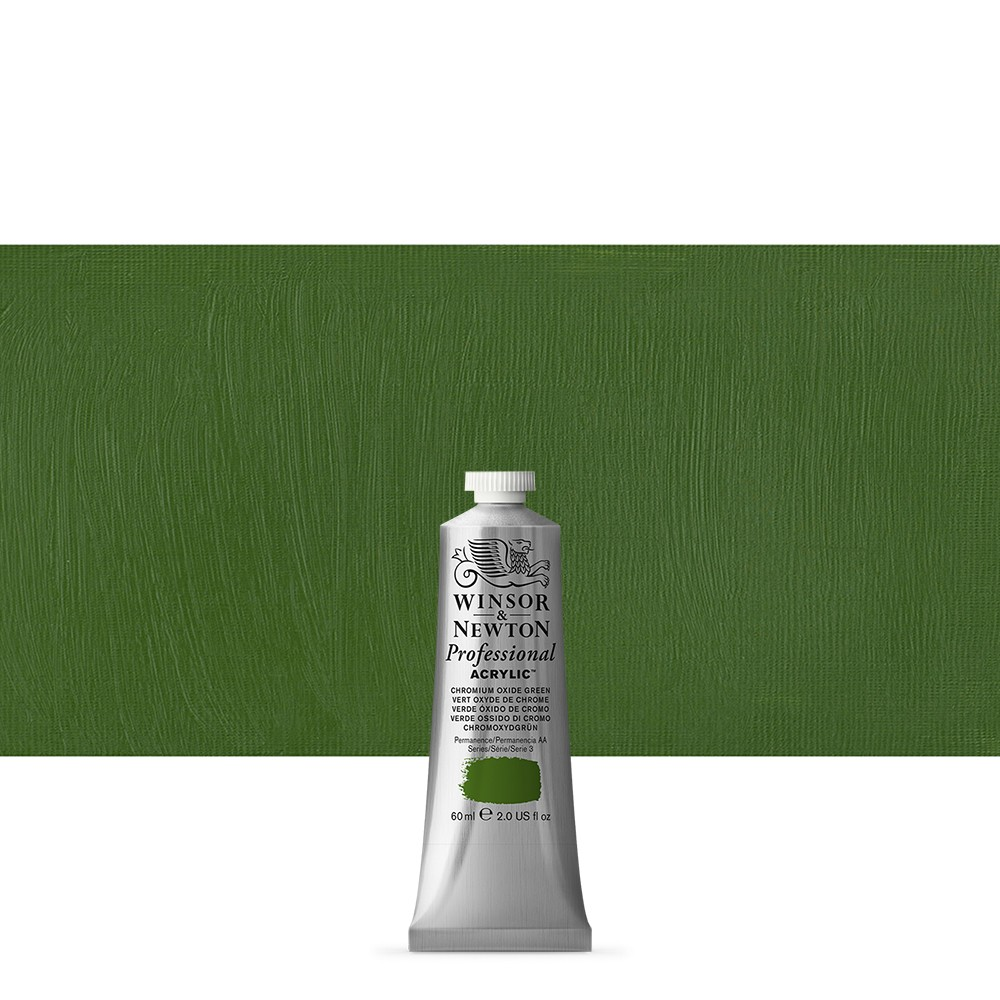 Winsor & Newton : Professional Acrylic Paint : 60ml : Chrom Oxide Green