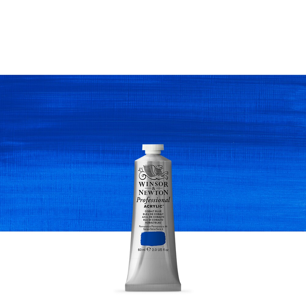 Winsor & Newton : Professional Acrylic Paint : 60ml : Cobalt Blue