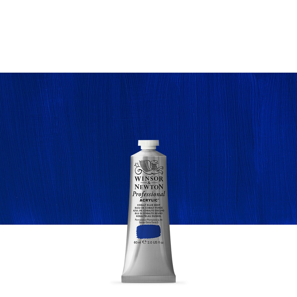 Winsor & Newton : Professional Acrylic Paint : 60ml : Cobalt Blue Deep