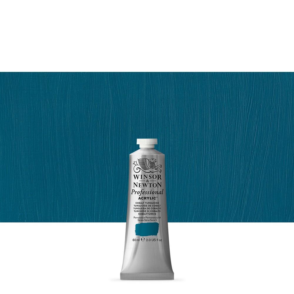Winsor & Newton : Professional : Acrylic Paint : 60ml : Cobalt Turquoise