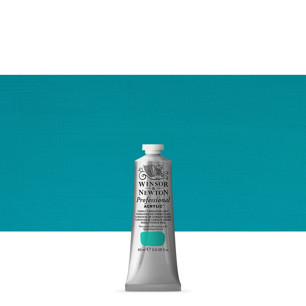 Winsor & Newton : Professional Acrylic Paint : 60ml : Cobalt Turquoise Light