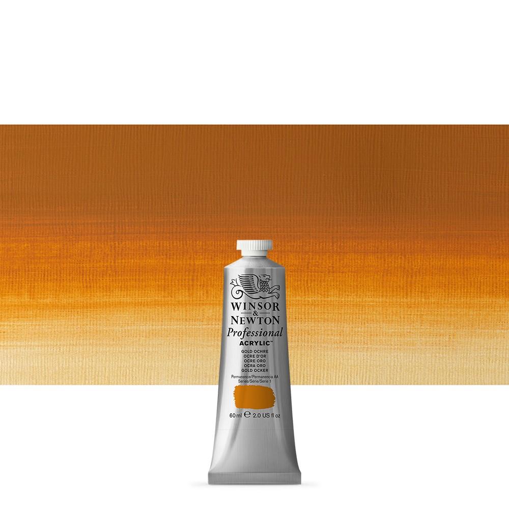 Winsor & Newton : Professional Acrylic Paint : 60ml : Gold Ochre